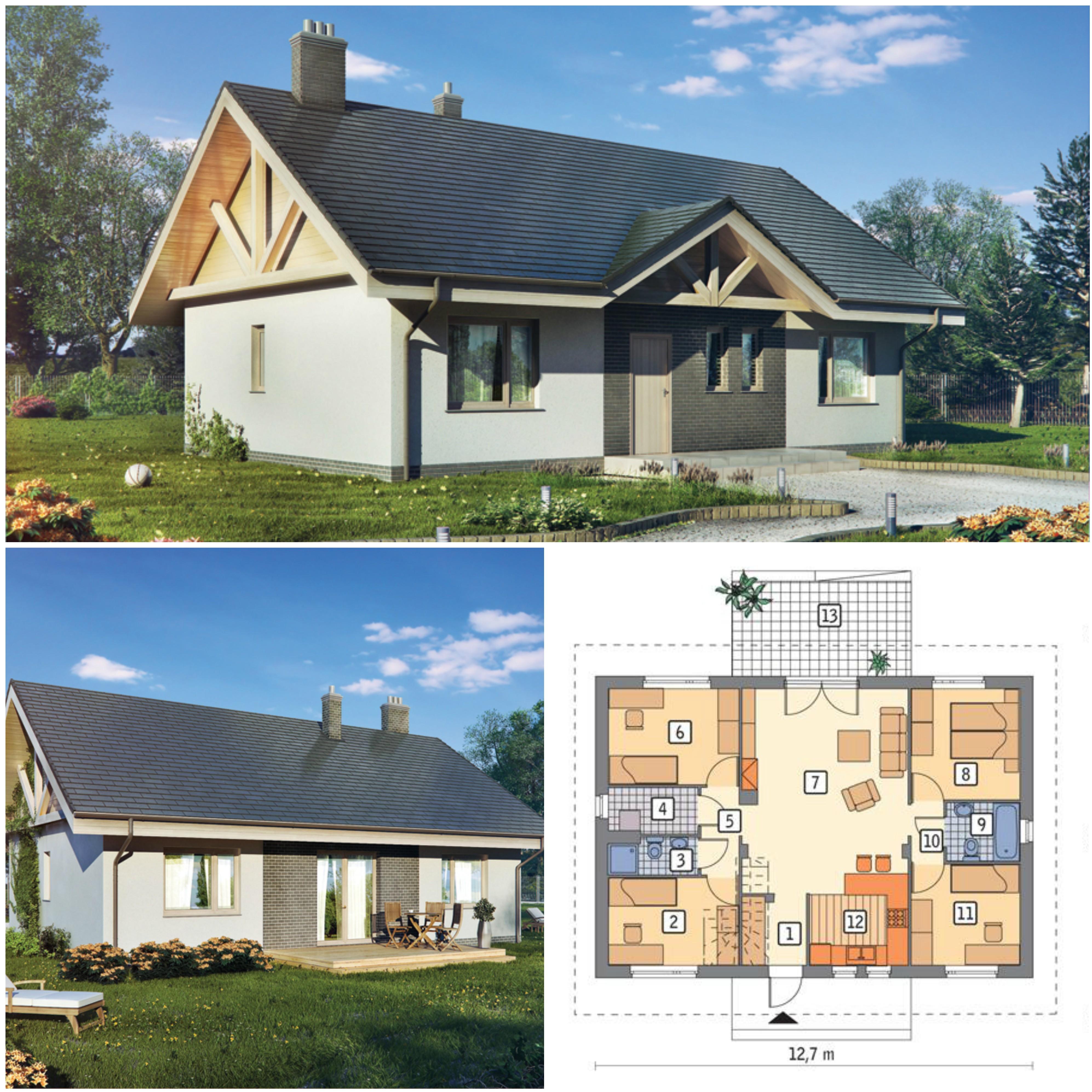 Projekt domu z poddaszem do adaptacji - Lubiany III