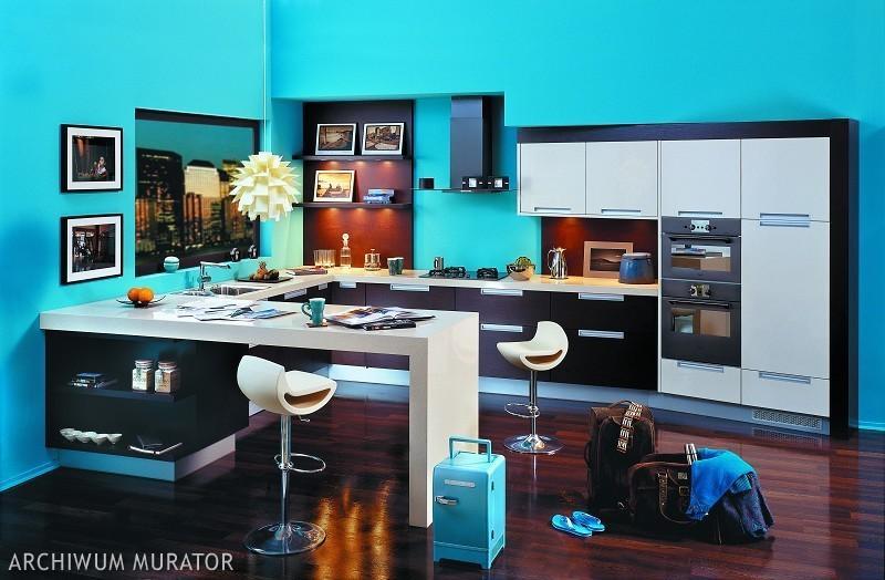 Galeria zdjęć  Nowoczesna kuchnia ubrana w modne kolory   -> Kolory Kuchni Modne