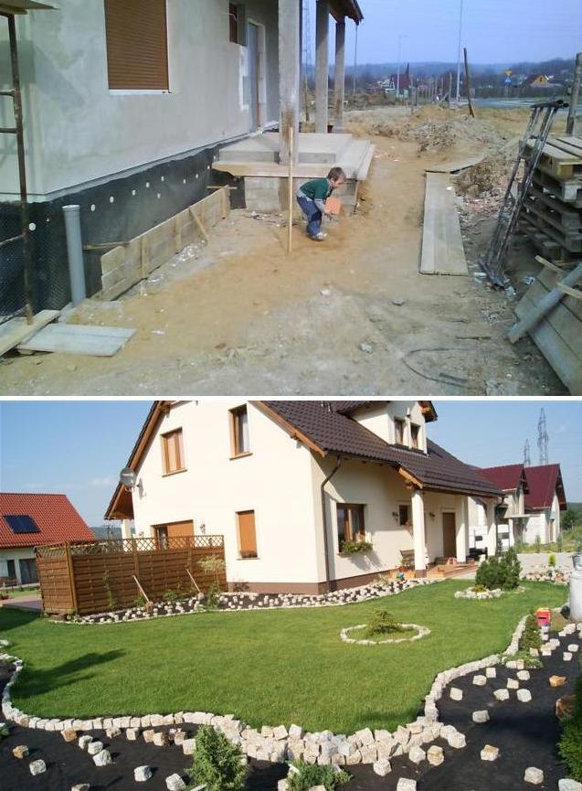 Aranżacje działek po budowie