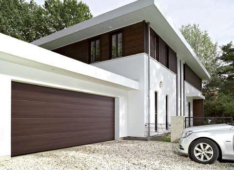 Brama garażowa z nadrukiem