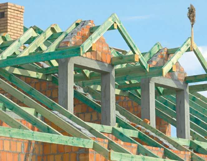Więźba dachowa z tarcicy impregnowanej