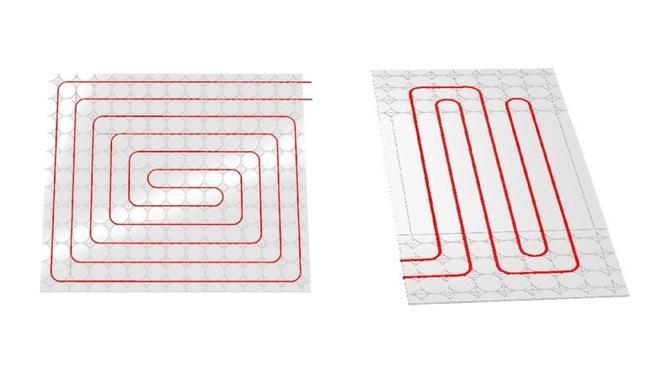 Przykłady rozwiązania układania rur w panelach gipsowych i cementowych