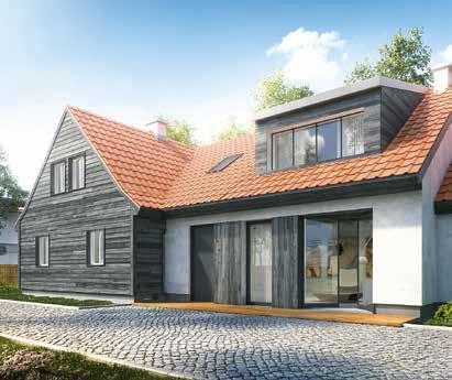 Dom z przybudówką