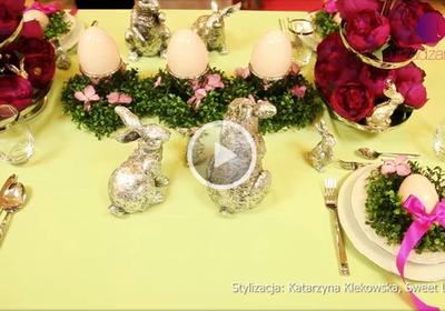 Ozdoby wielkanocne - świąteczne nakrycie stołu